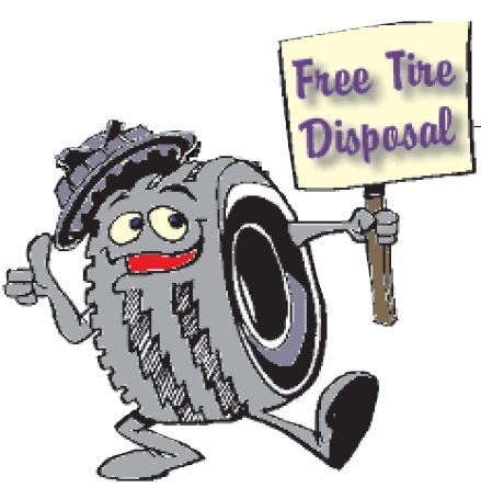 Free Tire Disposal Logo Opens in new window