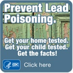 Click to go to the CDC Lead Prevention Website